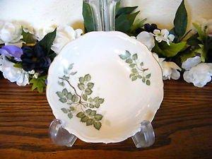 Mitterteich Bavaria Green Leaves Fruit Dessert Bowls