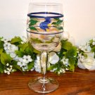 Dansk Spring Tulips Water Goblet Glass Country Floral