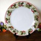 Gibson Tartan Plaid Dinner Plate Christmas Holiday