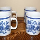 Churchill Indian Tree Mugs Blue White Flowers England