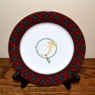 Arita Horn Salad Plate Holiday Tartan Plaid