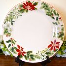 American Atelier Holiday Floral Round Platter Stoneware