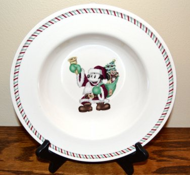 Disney Mickey Santa Soup Bowl Christmas Candy Cane