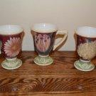 Certified International Pedestal Mugs Floral Tapestry