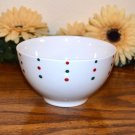 Mikasa Holiday Cheers Cereal Bowl Dots Christmas Red Green White