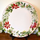 American Atelier Holiday Floral Dinner Plates Stoneware