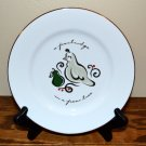 Pier 1 Salad Plate 12 Days of Christmas Partridge