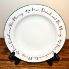 Home Salad Plates Holly Berry Holiday Christmas White Green Red
