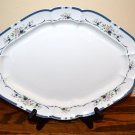 Nikko Fascination Platter Blue Floral