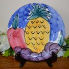 Pier 1 Salad Plate Tropical Fruits Italy