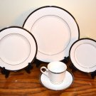 Lenox Leigh Fine China Place Setting (s) Black White