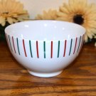 Mikasa Holiday Cheers Cereal Bowl Stripes Red Green White