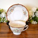 Ransom Japan Cup and Saucer (s) Rust Floral