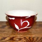 Sandra Lee Damask Flower Dessert Bowl Red White
