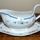 Nikko Fascination Gravy Boat with Plate Blue Floral
