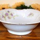 Haviland Square Vegetable Bowl Brushed Gold Purple Flowers  Mark 98