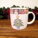 Gibson Patchwork Mugs Christmas Tree Holiday Country