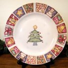 Gibson Patchwork Dinner Plates Christmas Tree Holiday Country