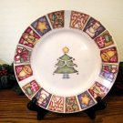 Gibson Patchwork Salad Plates Christmas Tree Country Holiday