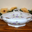 Haviland Oval Vegetable Bowl Brushed Gold Purple Flowers Mark 98