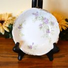 Haviland Dessert Bowl Brushed Gold Purple Flowers Mark 99