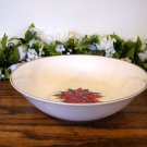 Home Vegetable Bowl Holiday Poinsettia Christmas Red White