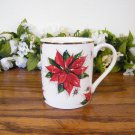 Home Mugs Holiday Christmas Poinsettia Red White