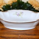 Haviland Small Vegetable Bowl Brushed Gold Purple Flowers  Mark 99