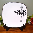 Home Salad Plate Arctic Solstice Holiday Damask