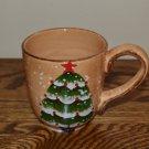 Tabletops Unlimited Snowstorm Christmas Tree Mug