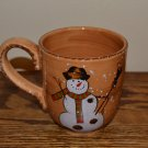 Tabletops Unlimited Snowstorm Christmas Snowman Mug