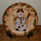 Tabletops Unlimited Snowstorm Christmas Snowman Salad Plate