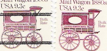 US Scott 1903 and 1903a PreCanceled - Single - Mail Wagon 1880s - 9.3 cent - Mint Never Hinged