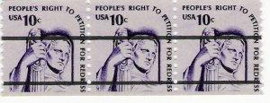Scott # 1592a PreCanceled - Strip of 3 - Justice - Mint Never Hinged