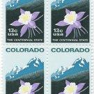 US Scott 1711- Block of 4 - Colorado Statehood - 13 cent - Mint Never Hinged