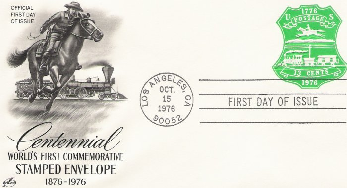 US Scott U582 - First Day Cover - 13c U S Bicentennial