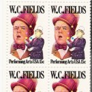 US Scott 1803 - Zip Block of 4 - W C Fields 15 cent - Mint Never Hinged