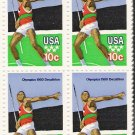 US Scott 1790 - Block of 4 - 1980 Summer Olympics Javelin 10 cent - Mint Never Hinged