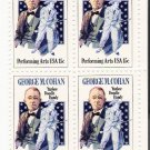 US Scott 1756 - Block of 4 - George M Cohan 13cent  - Mint Never Hinged