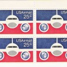 US Scott C89 - Block of 4 - Plane and Globes 25 cent - Mint Never Hinged