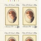 US1. Scott 1926 - Plate Block of 4 - Edna St Vincent Millay - Mint Never Hinged - 18 cent