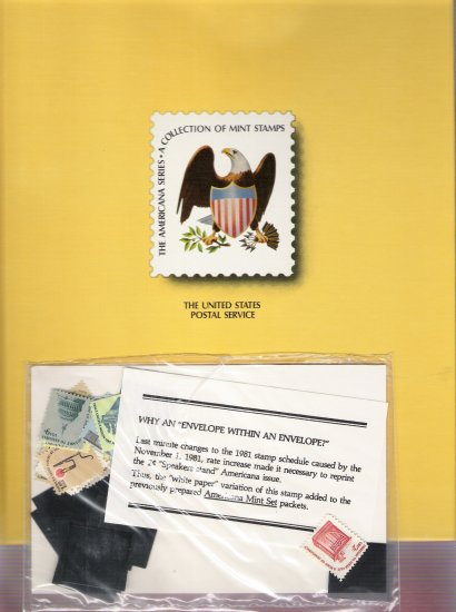 1981 United States Postal Service The Americana Series Collection - Mint