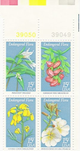 US Scott 1786a (1783 1784 1785 1786) - Plate Block of 12 - Endangered Flora 15 cent - MINT N H