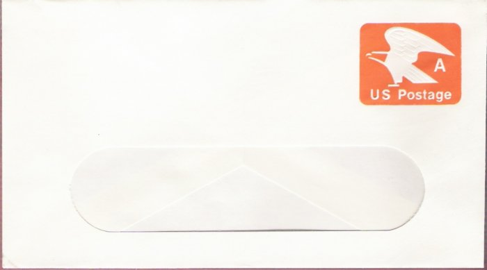 1978, US Scott U580, 15-cent Large Window Envelope 4.125 x 9.5 inch, A Postage, Mint