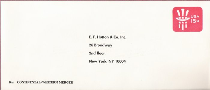 1978, U. Scott U581, 15-cent Large Addressed Envelope 4.125 x 9.5 inch, Uncle Sam, Mint