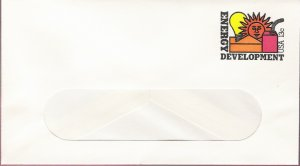 1977, US Scott U585, 13-cent Small Window Envelope 3.625 x 6.5 inch, Energy Development, Mint