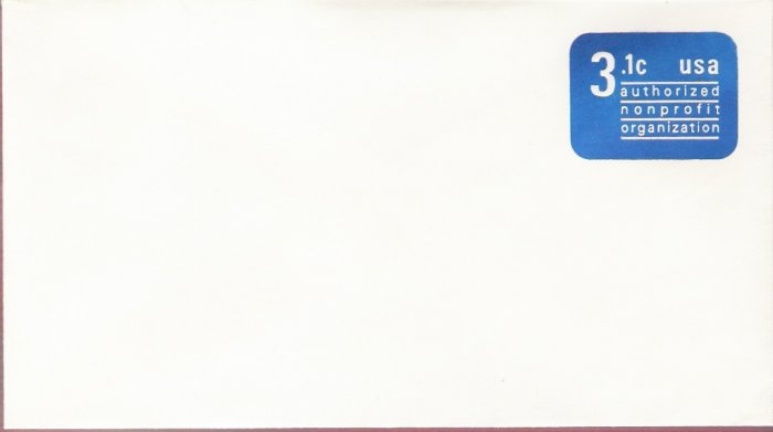 1979, US Scott U589, 3.1-cent Small Envelope 3.625 x 6.5 inch, Authorized Nonprofit, Mint