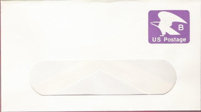 1981, US Scott U592, 18-cent Large Window Envelope 4.125 x 9.5 inch, B Postage, Mint