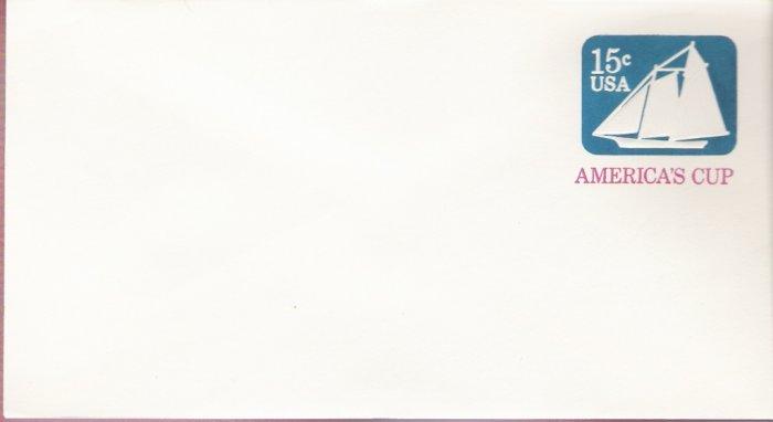 1980, US Scott U598, 15-cent Small Envelope 3.625 x 6.5 inch, America's Cup , Mint