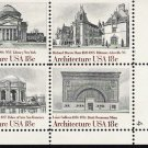 US Scott 1931a (198 1929 1930 1931) - Plate Block of 4 - American Architecture - MINT N H